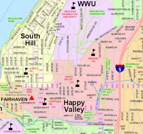 [Map of Happy Valley and Vicinity]